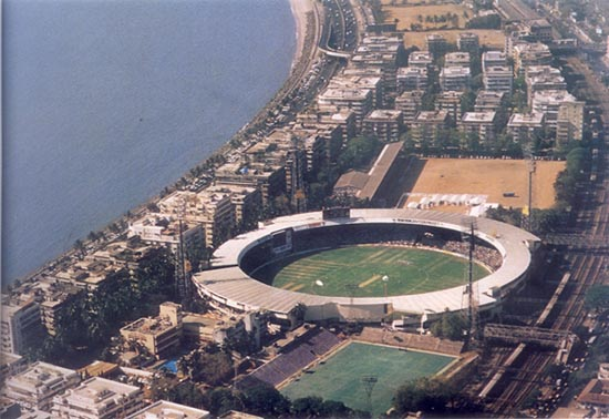 An aerial view of the ...